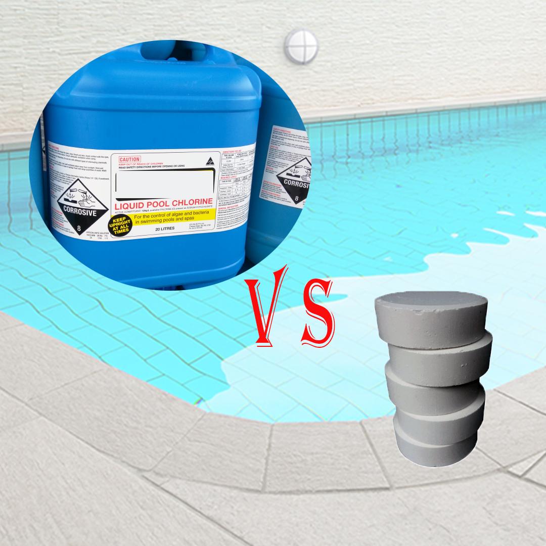 Using Liquid Chlorine Vs Tablets In Swimming Pool Pst Pool Supplies